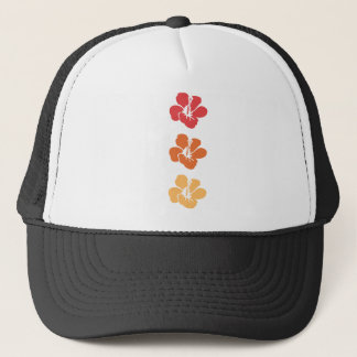 Colorful Hibiscus Flowers Trucker Hat