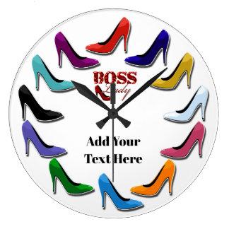 Colorful High Heel Shoe Wall Clock