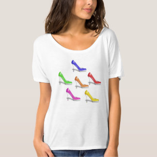 COLORFUL HIGH HEEL SHOES (RAINBOW FLAG COLORS) T-Shirt