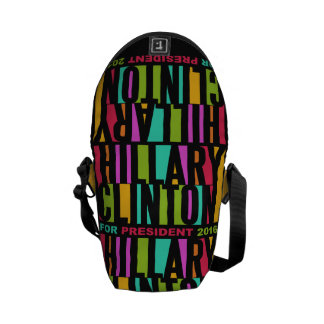 Colorful Hillary Clinton 2016 messenger bags
