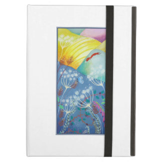 Colorful Hills Plants and Fox iPad Cover