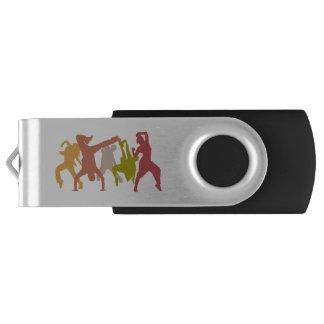 Colorful Hip Hop Dancers USB Flash Drive