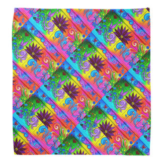 colorful hippie psychedelic bandana
