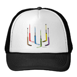 Colorful Hockey Goalie Sticks Cap