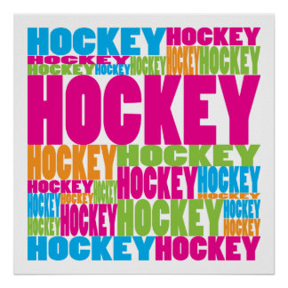 Colorful Hockey Poster