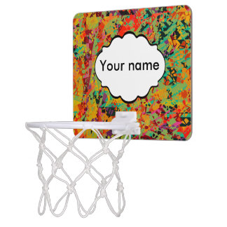 Colorful holes texture mini basketball hoop