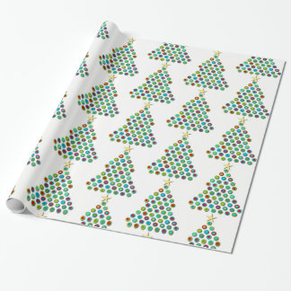 Colorful Holiday Christmas Tree Wrapping Paper