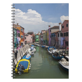 Colorful homes along canal on the island of note books