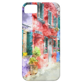 Colorful Homes in Burano Italy near Venice iPhone 5 Covers