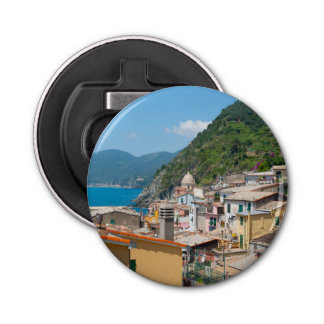 Colorful Homes in Cinque Terre Italy Bottle Opener