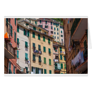 Colorful Homes in Cinque Terre Italy Card