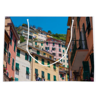 Colorful Homes in Cinque Terre Italy Large Gift Bag