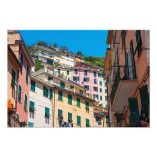 Colorful Homes in Cinque Terre Italy Photo Print