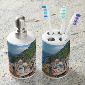 Colorful Homes in Cinque Terre Italy Soap Dispenser