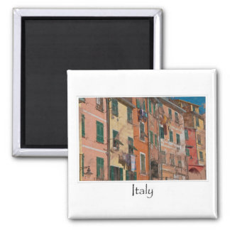 Colorful Homes in Cinque Terre Italy Square Magnet
