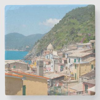 Colorful Homes in Cinque Terre Italy Stone Coaster