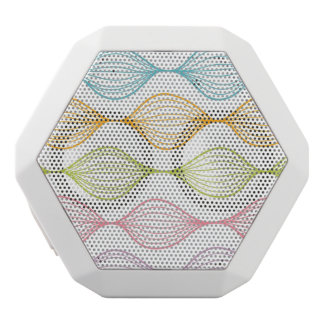 Colorful horizontal ogee pattern white boombot rex bluetooth speaker