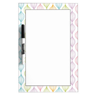 Colorful horizontal ogee pattern Dry-Erase whiteboard