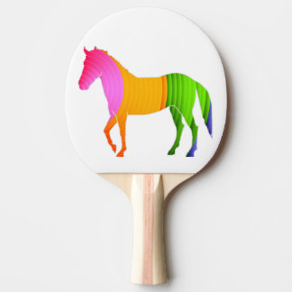 Colorful horse ping pong paddle