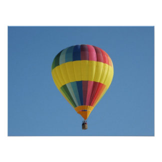Colorful Hot air balloon Poster