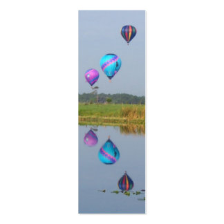 Colorful Hot Air Balloons bookmarks Business Card