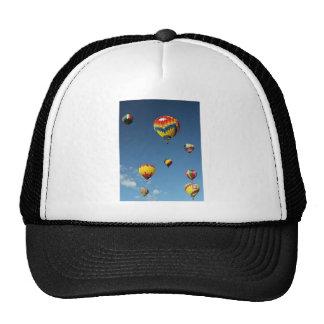 Colorful Hot Air Balloons in the Sky Mesh Hats