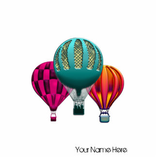 Colorful Hot Air Balloons Print Standing Photo Sculpture