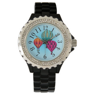 Colorful Hot Air Balloons Print Watch