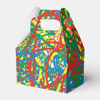 Colorful hot mess blast multi color splash rainbow favour box