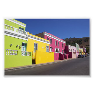 Colorful Houses in Bo-Kaap, Cape Town, Photo Print