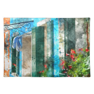 Colorful houses in Burano island Venice Italy Place Mat