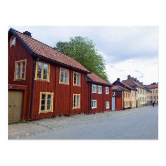 Colorful houses, Lotsgatan, Södermalm, Stockholm Postcard