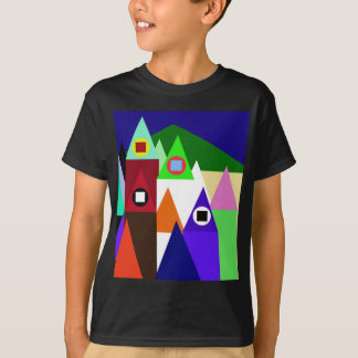 Colorful houses t shirts