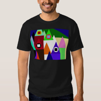 Colorful houses tee shirts