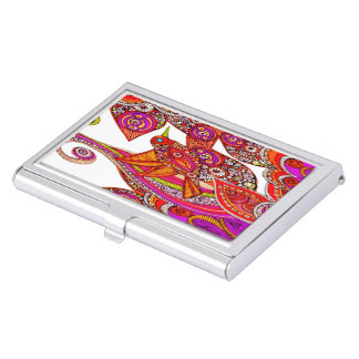 Colorful Hummingbird On White Business Card Holder