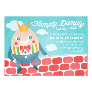 Colorful Humpty Dumpty Baby Shower Invitation