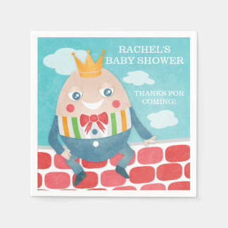 Colorful Humpty Dumpty Baby Shower Paper Napkins