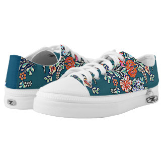 colorful Hungarian floral Printed Shoes