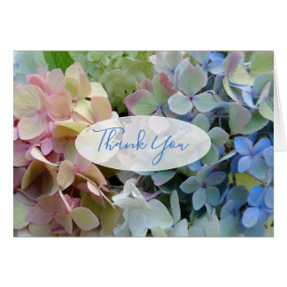 Colorful Hydrangeas Thank You Custom Message Card