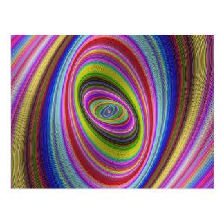 Colorful Hypnosis Postcard