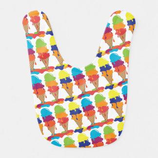 Colorful Ice Cream Baby Bib