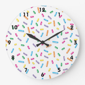 Colorful Ice Cream Candy Sprinkles Clock