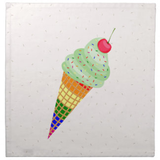 Colorful Ice Cream Cone Design Napkin