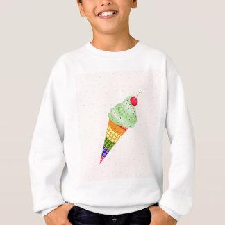Colorful Ice Cream Cone Design Sweatshirt
