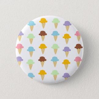 Colorful Ice Cream Cones 6 Cm Round Badge
