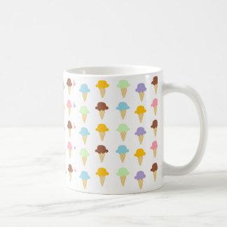 Colorful Ice Cream Cones Basic White Mug