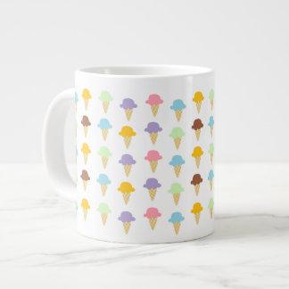 Colorful Ice Cream Cones 20 Oz Large Ceramic Coffee Mug