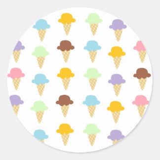 Colorful Ice Cream Cones Sticker