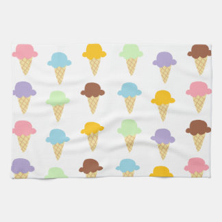 Colorful Ice Cream Cones Hand Towels