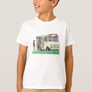 Colorful Ice Cream Truck Illustration T-Shirt